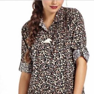 Anthropologie Birds of Paradis corduroy buttondown